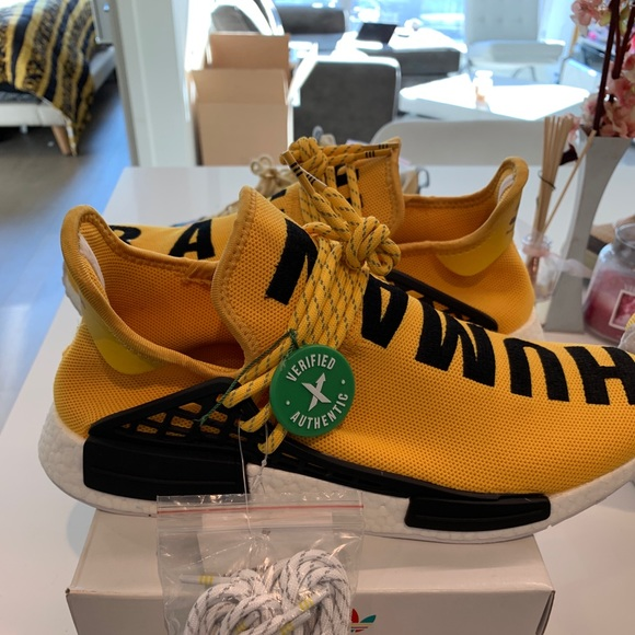hot sale online e93fa c3183 Brand new Adidas Human Race Yellow sz 11